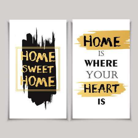 Vintage gift card with quote Home is where your heart is.
