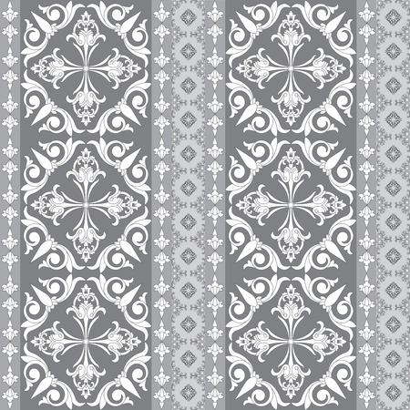 Uitstekende abstracte patchwork decoratief naadloos patroon. Bloemen behang design.