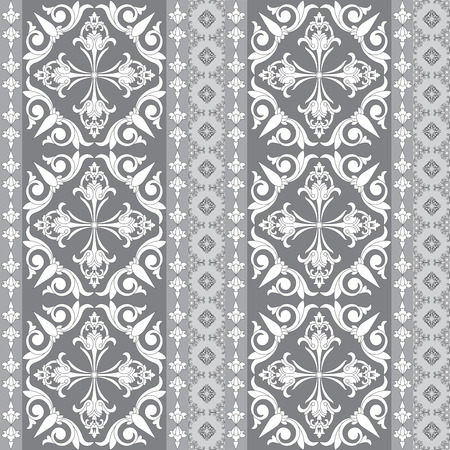 Vintage abstract patchwork decorative seamless pattern. Floral wallpaper design.