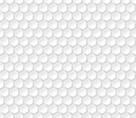 animal pattern: Hexagonal seamless vector pattern. Light gray hexagon with 3d effect. Hexagonal abstract background.