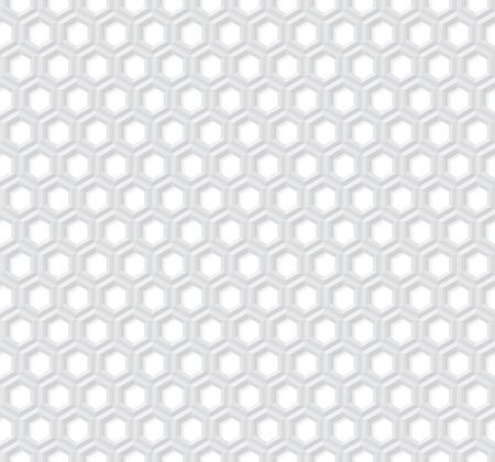 abejas panal: sin fisuras vector patrón hexagonal. hexágono gris claro con efecto 3D. resumen de antecedentes hexagonal.