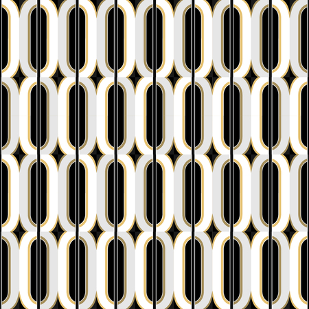diagonal: Art Deco golden seamless vintage wallpaper pattern. Geometric decorative pattern.