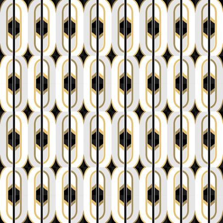 30s: Art Deco seamless vintage wallpaper pattern. Geometric decorative pattern.