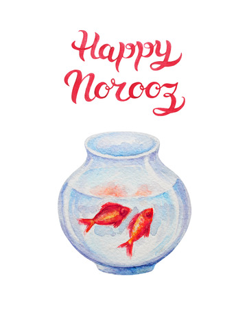 iranian: Greeting Card template with title Happy Norooz - the traditional Persian New Year Holiday