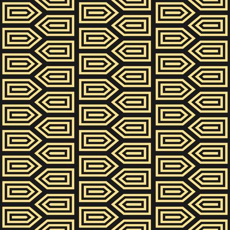 black art: Art Deco seamless vintage wallpaper pattern. Geometric decorative pattern.