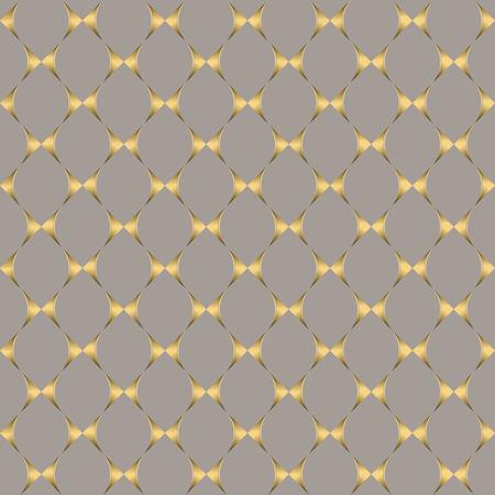 gold silver: Art Deco seamless vintage wallpaper pattern. Geometric lace decorative pattern Illustration