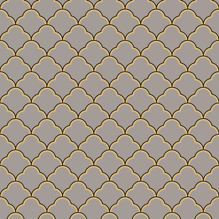 Art Deco seamless vintage wallpaper pattern. Geometric lace decorative pattern