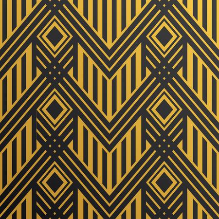 Art Deco naadloze vintage behang patroon. Geometrische vector gouden decoratief patroon Stock Illustratie