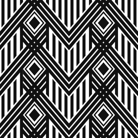 art nouveau design: Art Deco seamless vintage wallpaper pattern. Geometric vector decorative pattern Illustration