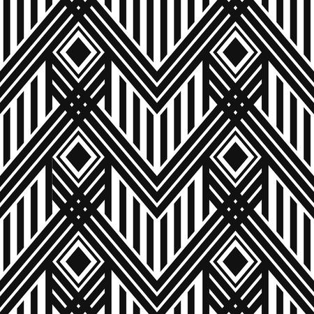 line art: Art Deco sin fisuras patr�n de papel tapiz de �poca. patr�n decorativo del vector geom�trico
