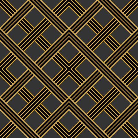 30s: Art Deco seamless vintage wallpaper pattern. Geometric vector decorative pattern.