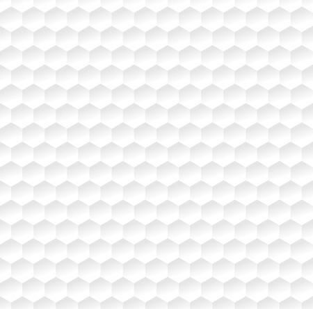 Hexagonaal abstract wit patroon. Vector illustratie. Stock Illustratie