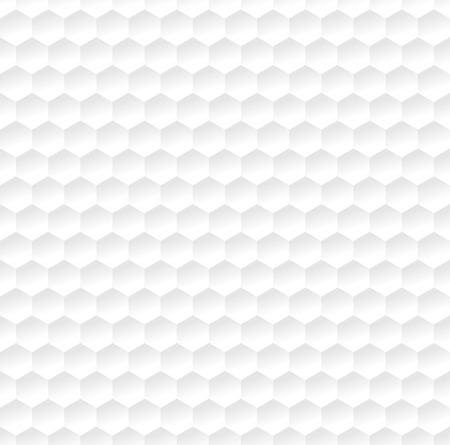 metal: Hexagonal abstract white pattern.  Vector illustration.