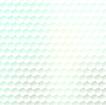 nectars: Hexagonal abstract white pattern with light green gradient effect.