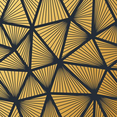 Art Deco naadloze vintage behang patroon. Geometrische decoratieve achtergrond. Stock Illustratie
