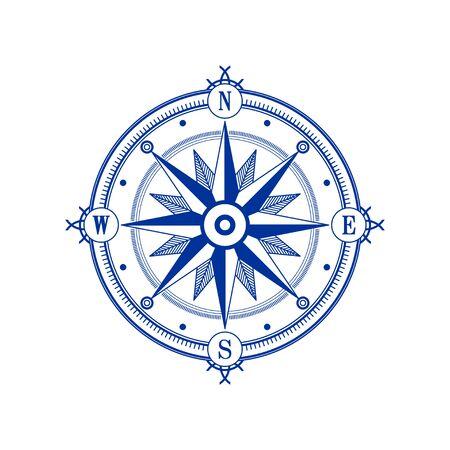 Compass wind rose vector design element. Vintage navigator icon Ilustracje wektorowe