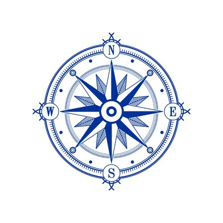Compass wind rose vector design element. Vintage navigator icon Vektoros illusztráció