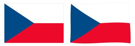 Czech Republic (Czechia) flag. Simple and slightly waving version.