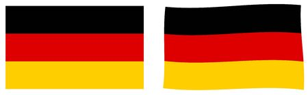 Federal Republic of Germany flag. Simple and slightly waving version.
