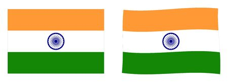 Flag of India. Simple and slightly waving version.
