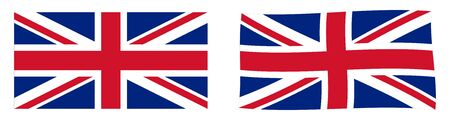 United Kingdom of Great Britain and Northern Ireland (Union Jack) flag. Simple and slightly waving version.