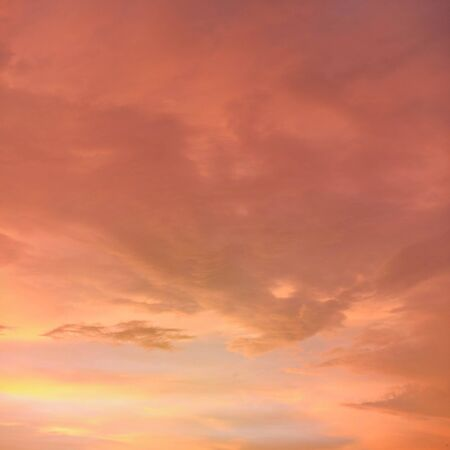 Orange and pink sky after sunset - can be used as background with subjects placed in front Banco de Imagens