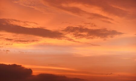 Orange and pink sky after sunset - can be used as background. Banco de Imagens