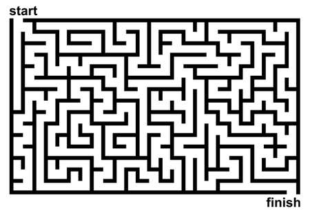 Simple black and white maze. 向量圖像