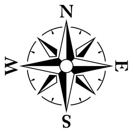Simple compass / windrose icon. 向量圖像