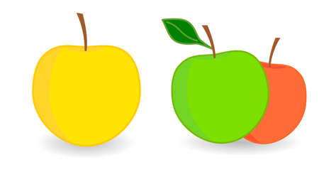 Simple Apple icon, version with single and two fruits.