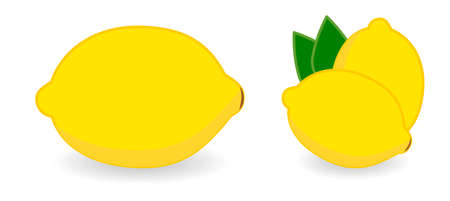 Simple Lemon icon, version with single and two fruits.