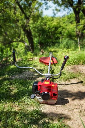 Grass cutter  brush cutter for trimming overgrown grass