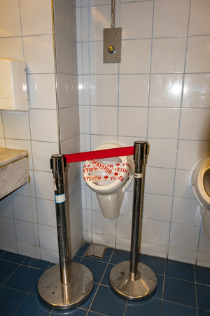 Public toilet – urinals - out of order (GREECE)