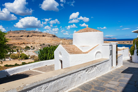 Greek orthodox church in Lindos (Rhodes, Greece)
