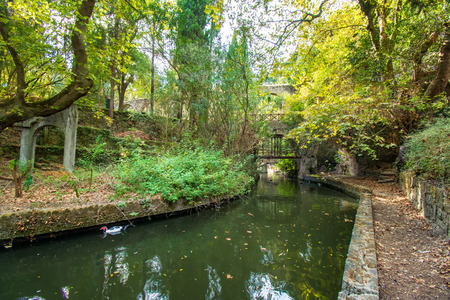 A small river in Rodini park in city of Rhodes (Rhodes, Greece) Reklamní fotografie