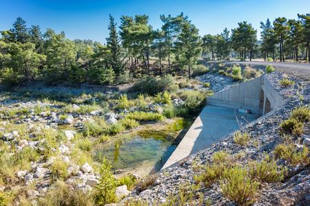 Wild nature around Gadoura Dam on Rhodes Island (Rhodes, Greece) Reklamní fotografie