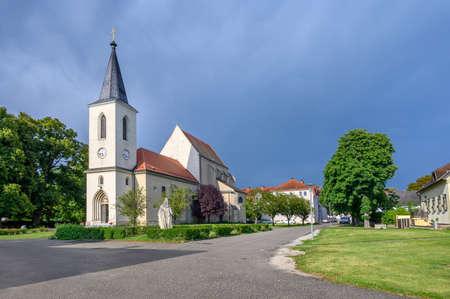 Parish church St. Margaret of Antioch in centre Marchegg (AUSTRIA)