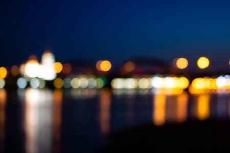 background, spots of light, flare, lights, city lights, night city, lightbulbs, defocus, blur, blurred lights 免版税图像