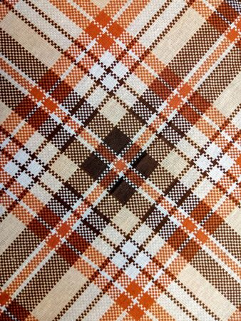texture of vintage checkered tablecloth background pattern