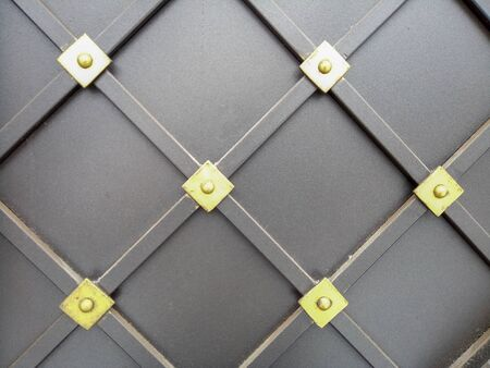 metal dark list with rhombus shapes. pattern