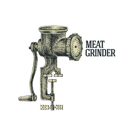 meat grinder: Meat grinder. Vector illustration