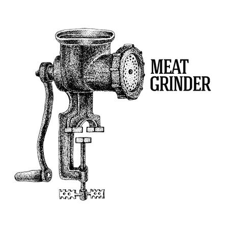 Amoladora de carne Ilustración del vector Ilustración de vector