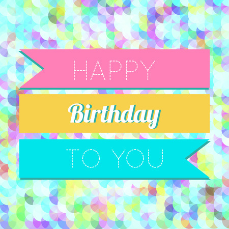 Colorful Happy Birthday Greeting Card Design Illustration Vector