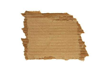 noteboard: Ripped cardboard isolated on white background