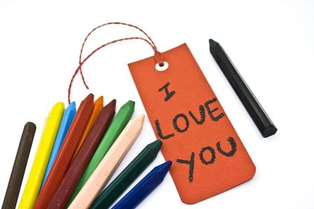 annoucement: I love you label. Stock Photo