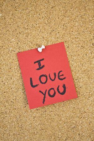 I love you message. photo