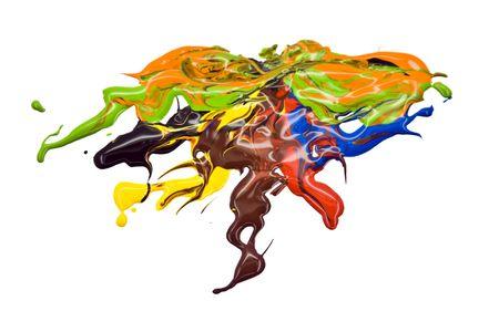Multi colored paint splatter Stock Photo - 5163614