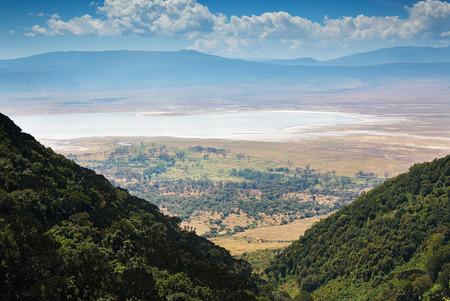 view of the Ngorongoro crater 版權商用圖片