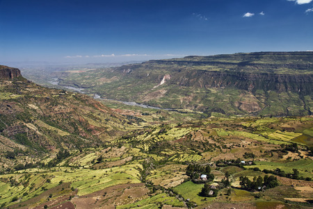 Debre Libanos에 가까운 에티오피아 리프트 밸리 스톡 콘텐츠