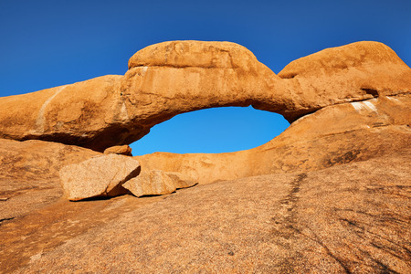Beautiful Rock Arch at Spitzkoppe , in Namibia